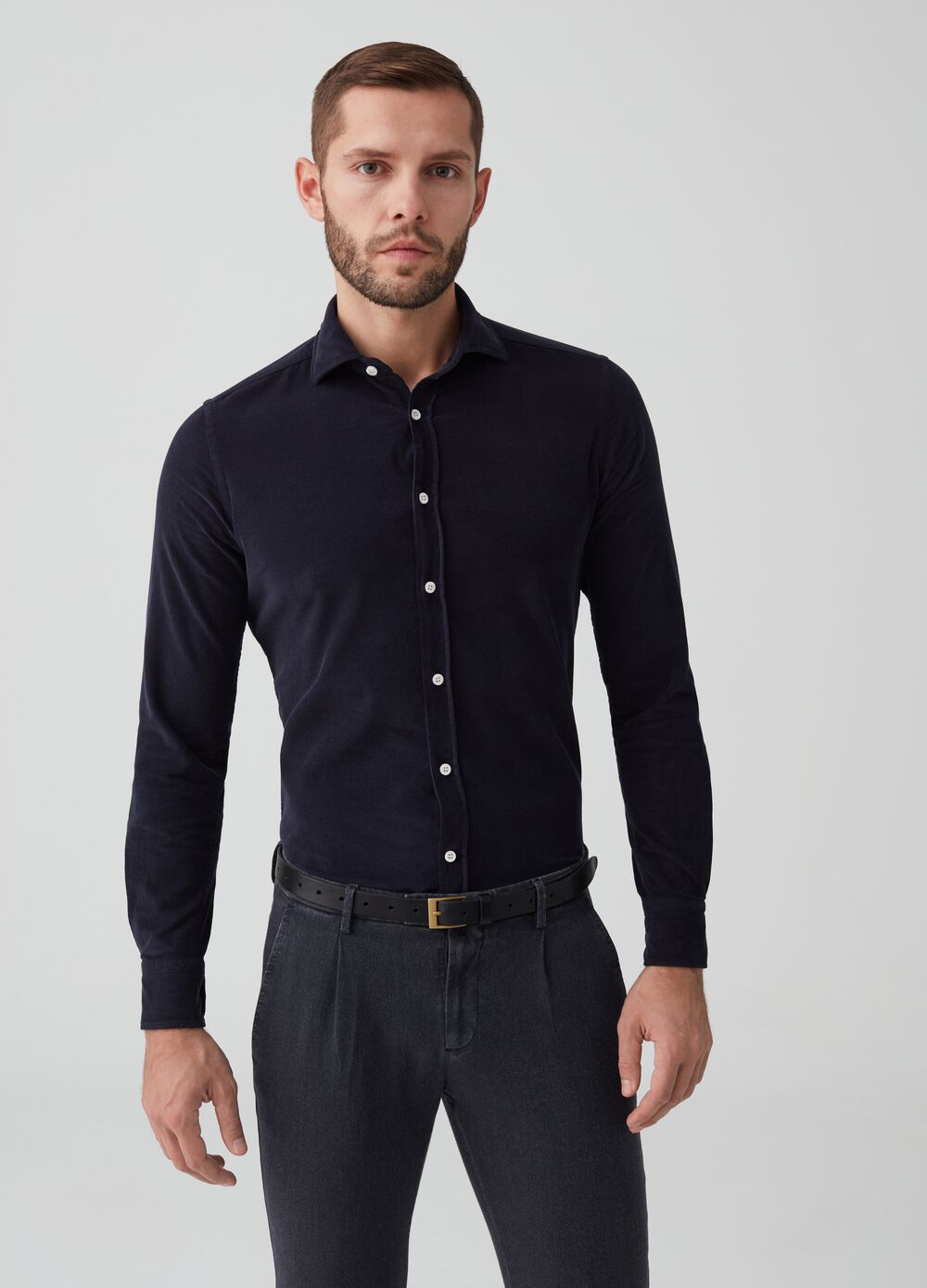 Rumford 100% cotton shirt with buttons