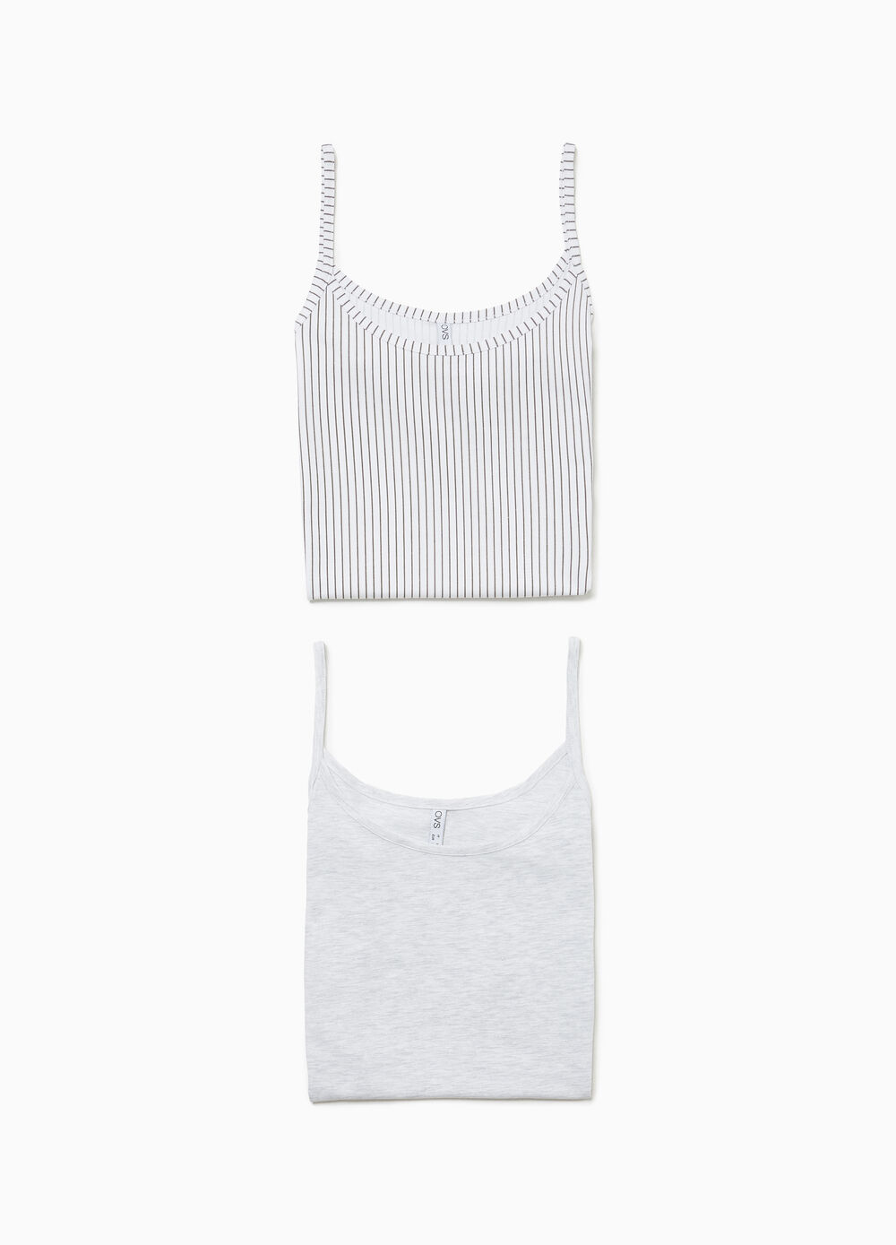 Two-pack stretch jersey vests