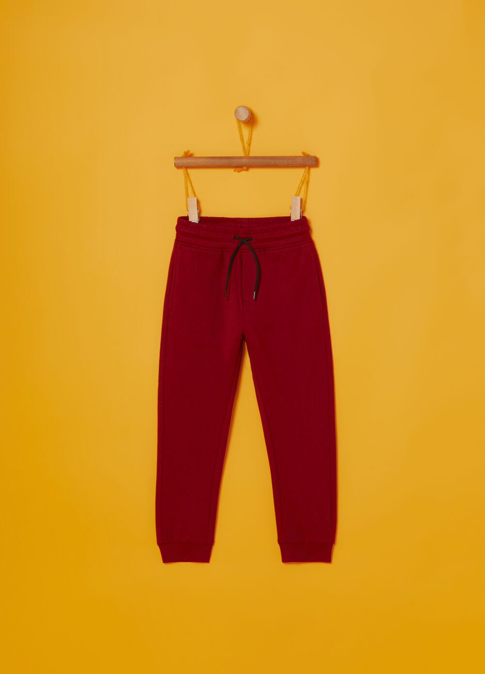 100% cotton jogger trousers with print