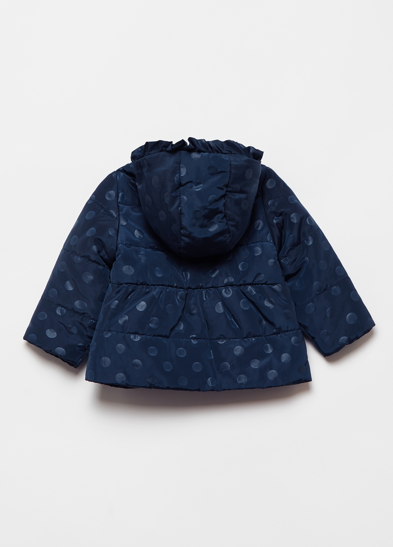 Quilted jacket with polka dot frill image number null