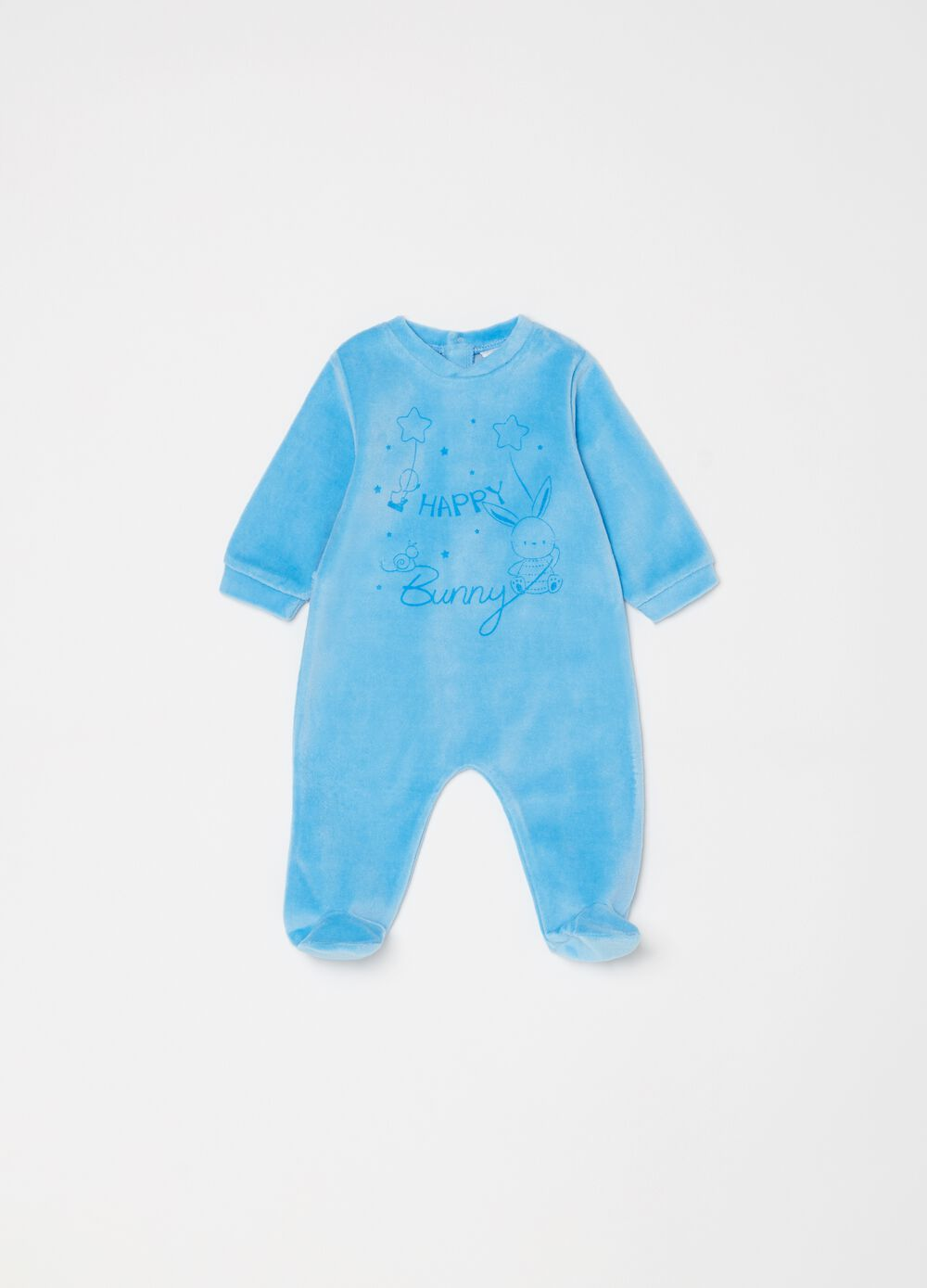 Onesie with feet and animal print