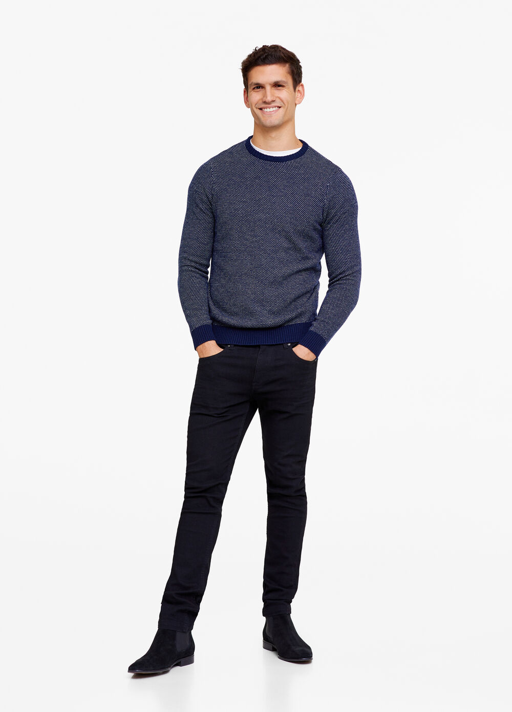 Lamb's wool blend pullover