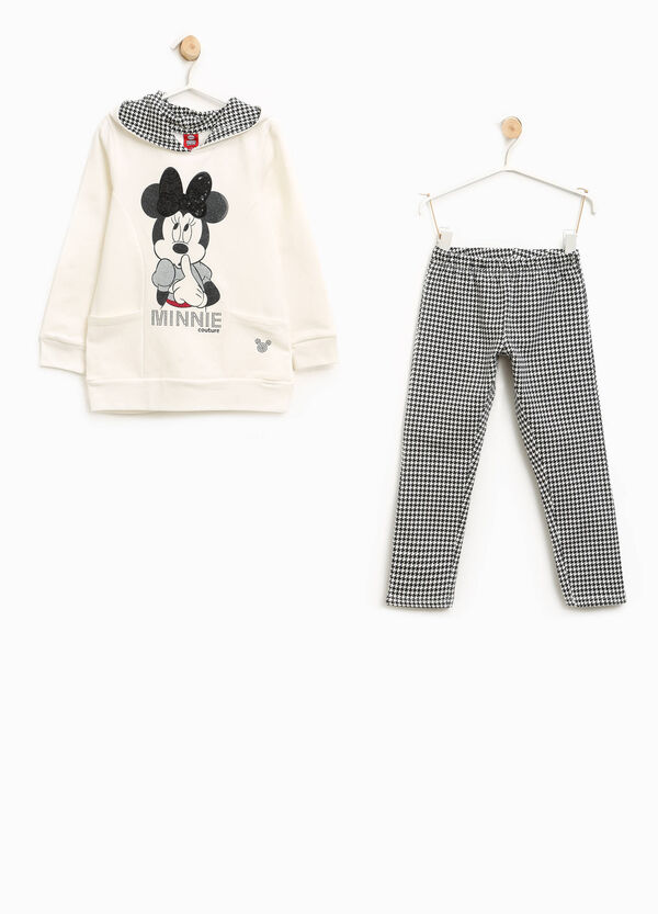 Minnie Mouse and hounds' tooth stretch tracksuit | OVS