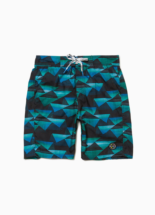 Beach shorts with patch by Maui and Sons