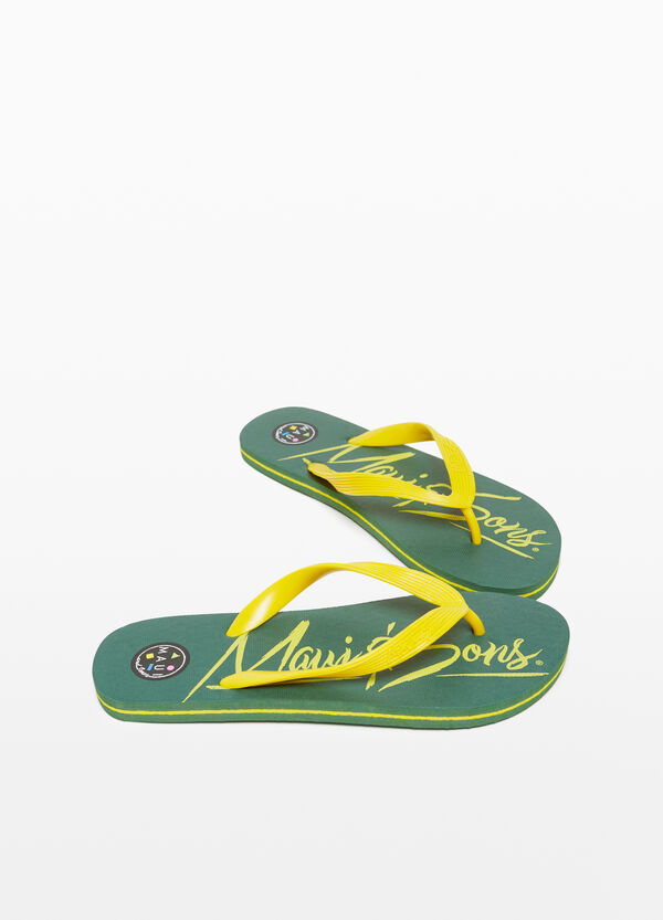 Rubber beach flip flops by Maui and Sons