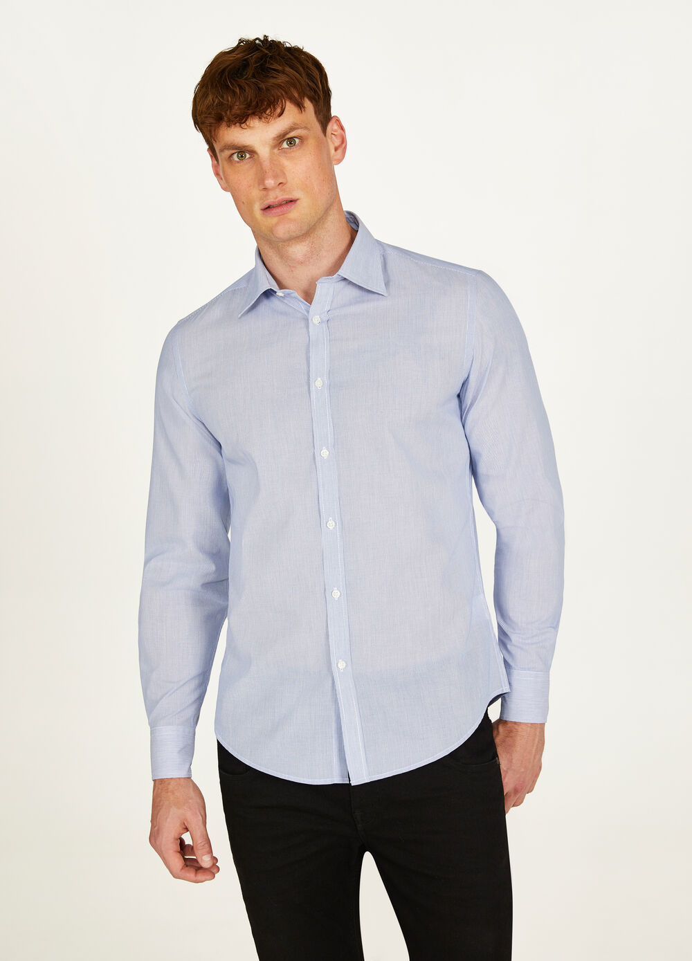 Chemise formelle slim fit à rayures