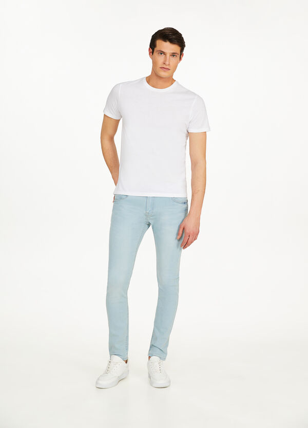 Solid colour, super skinny-fit stretch jeans