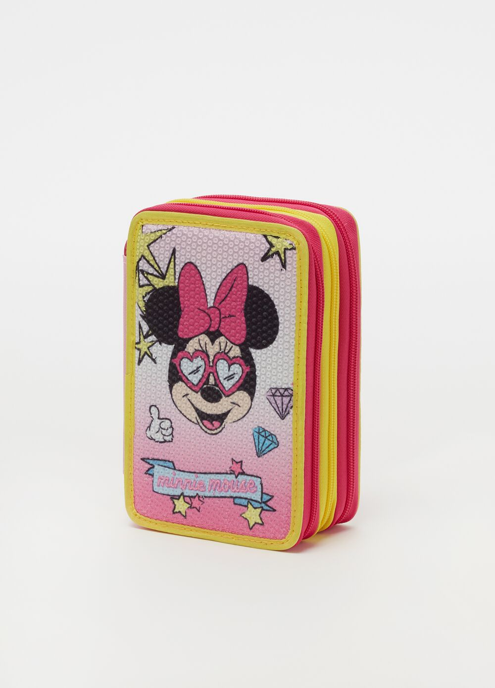 Minnie Mouse pencil case with 3 zips