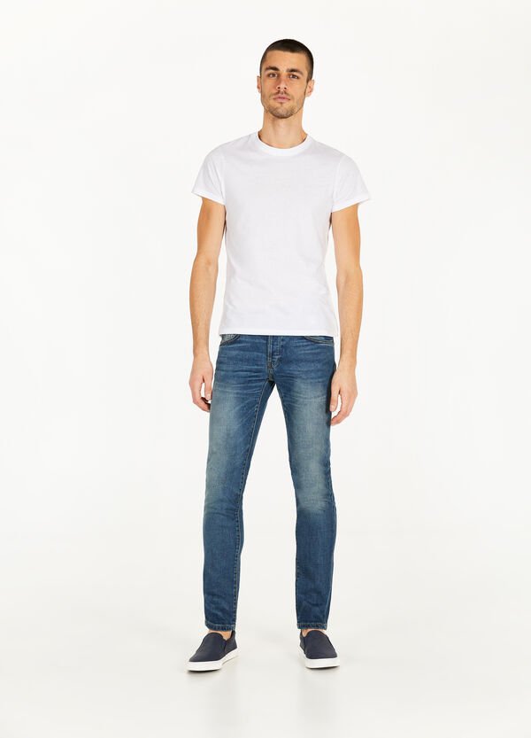 Stretch-Jeans Slim Fit Whiskering