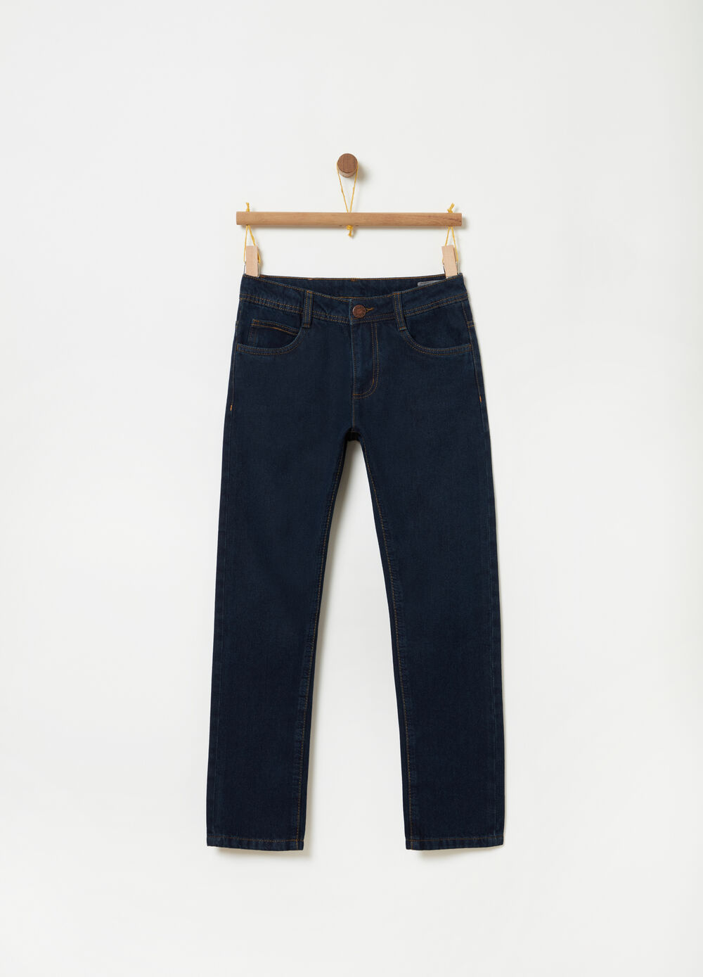 Regular-fit jeans with elasticated waist