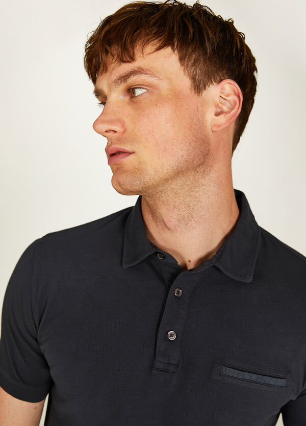 Rumford cotton pique polo shirt with pocket