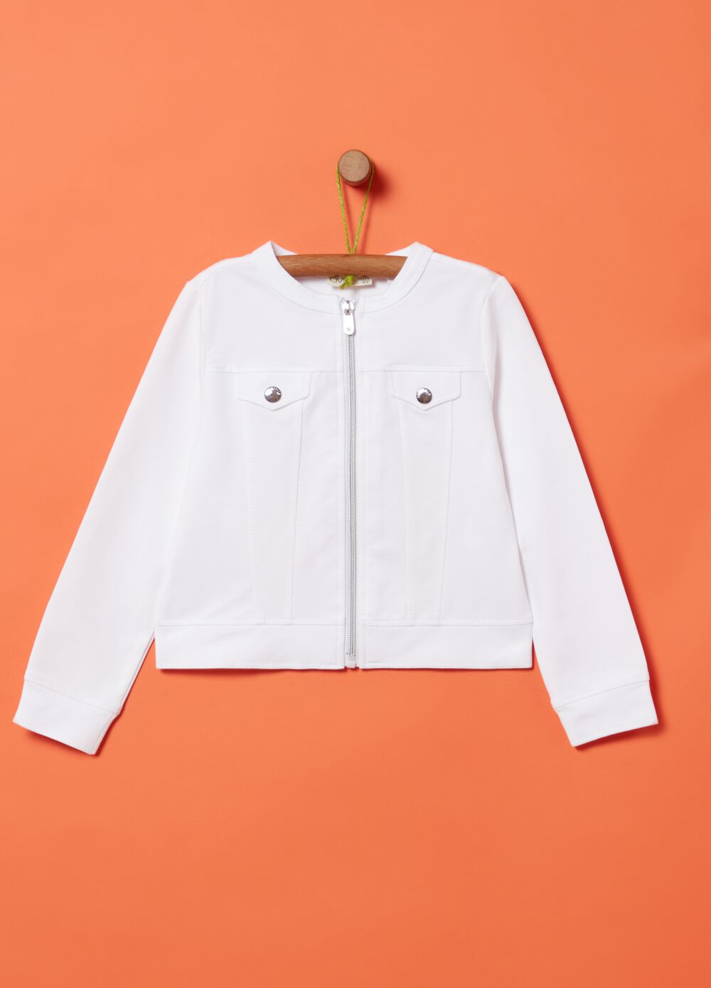 Sweatshirt in stretch cotton French terry
