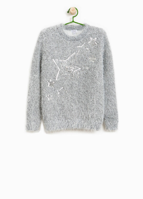 Knitted pullover with star sequins | OVS