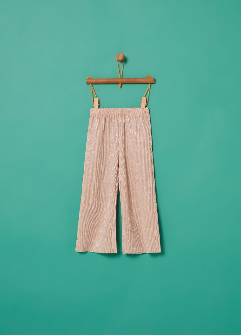 Wide-fit pleated trousers with lurex