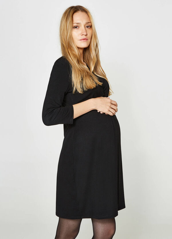 MUM pleated viscose dress