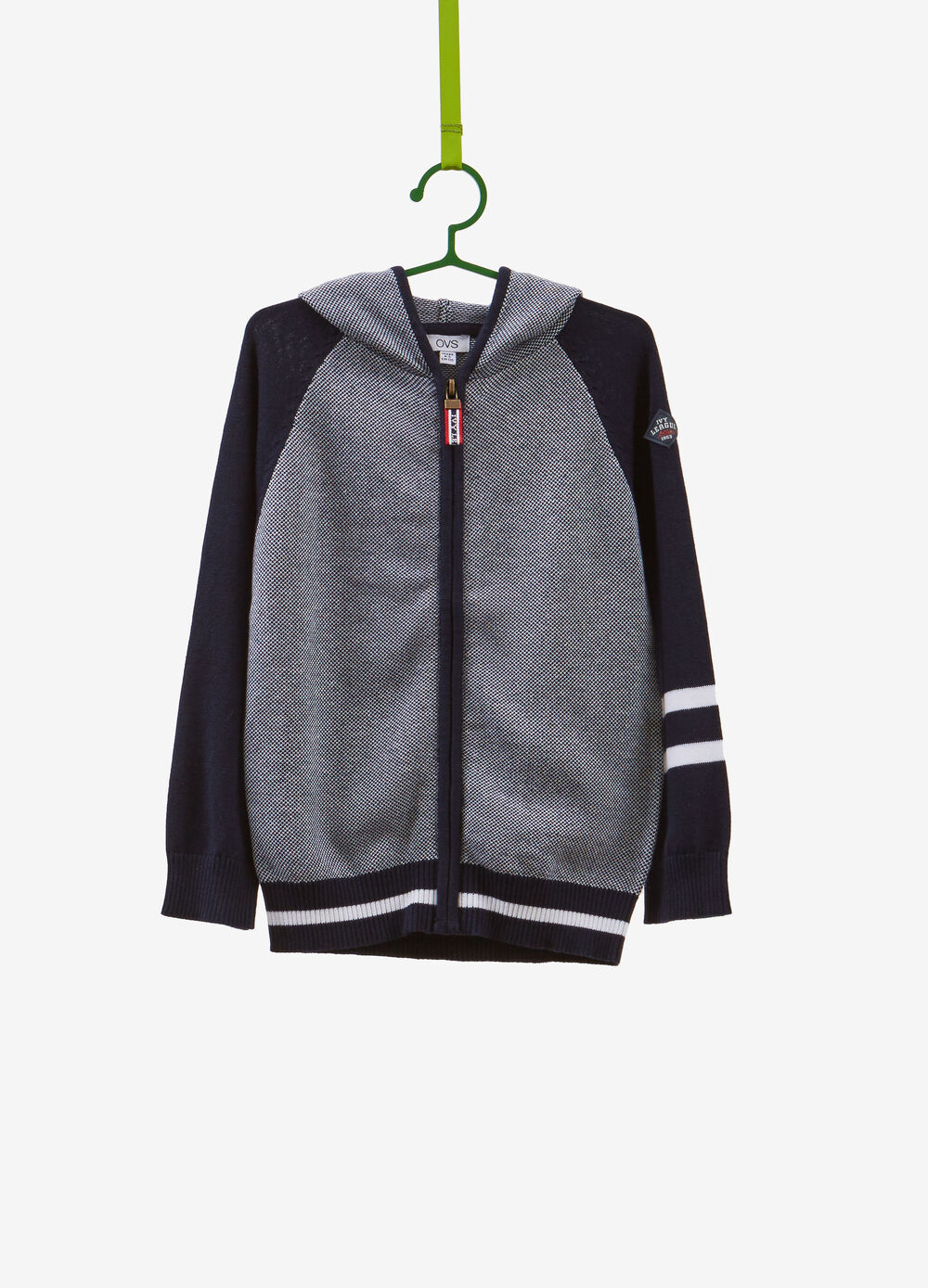 100% cotton knitted sweatshirt with micro pattern