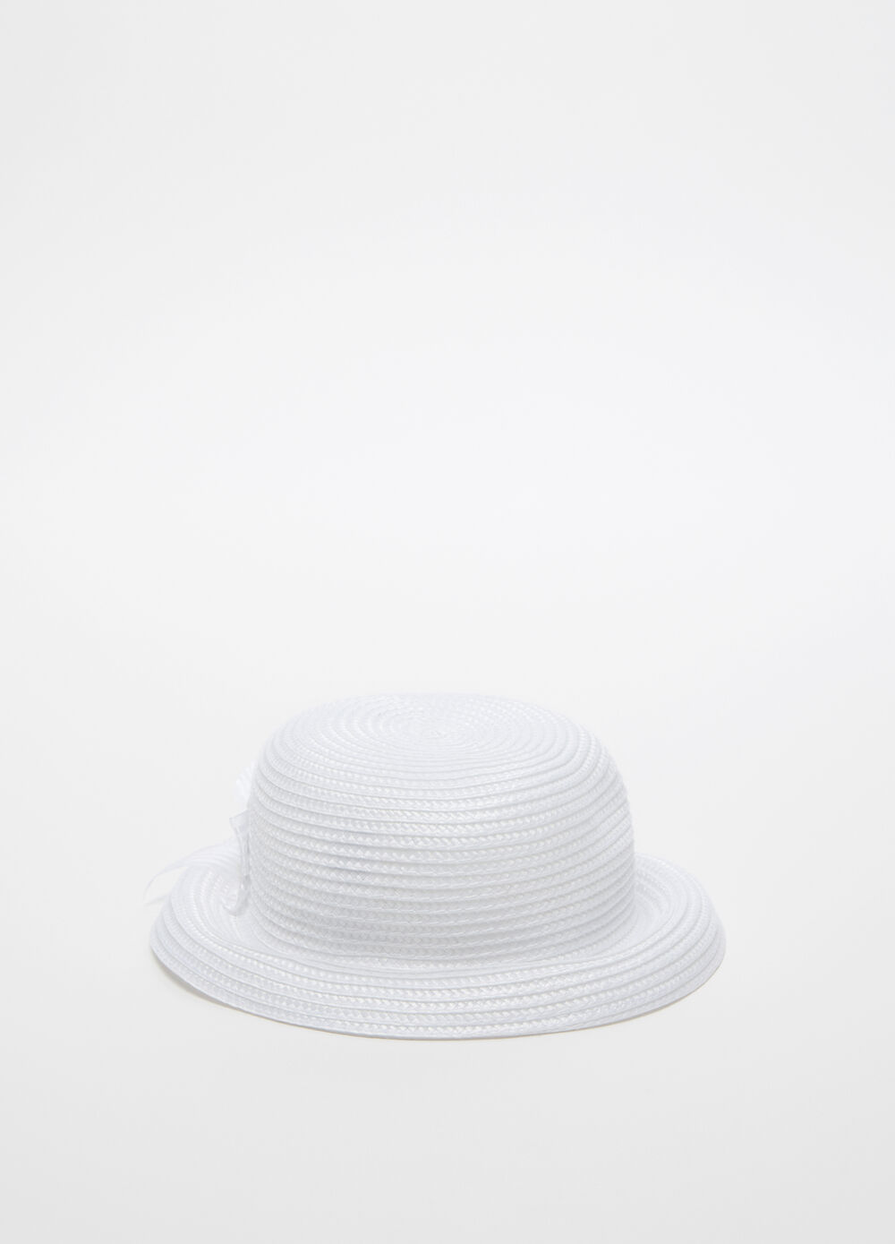 Bucket hat with striped weave