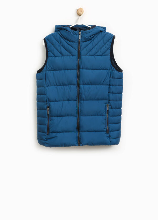Padded gilet with large hood | OVS