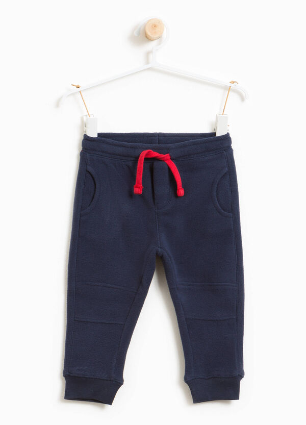 Solid colour joggers with drawstring