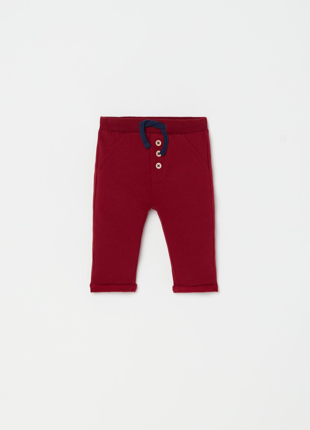 100% organic cotton trousers with drawstring