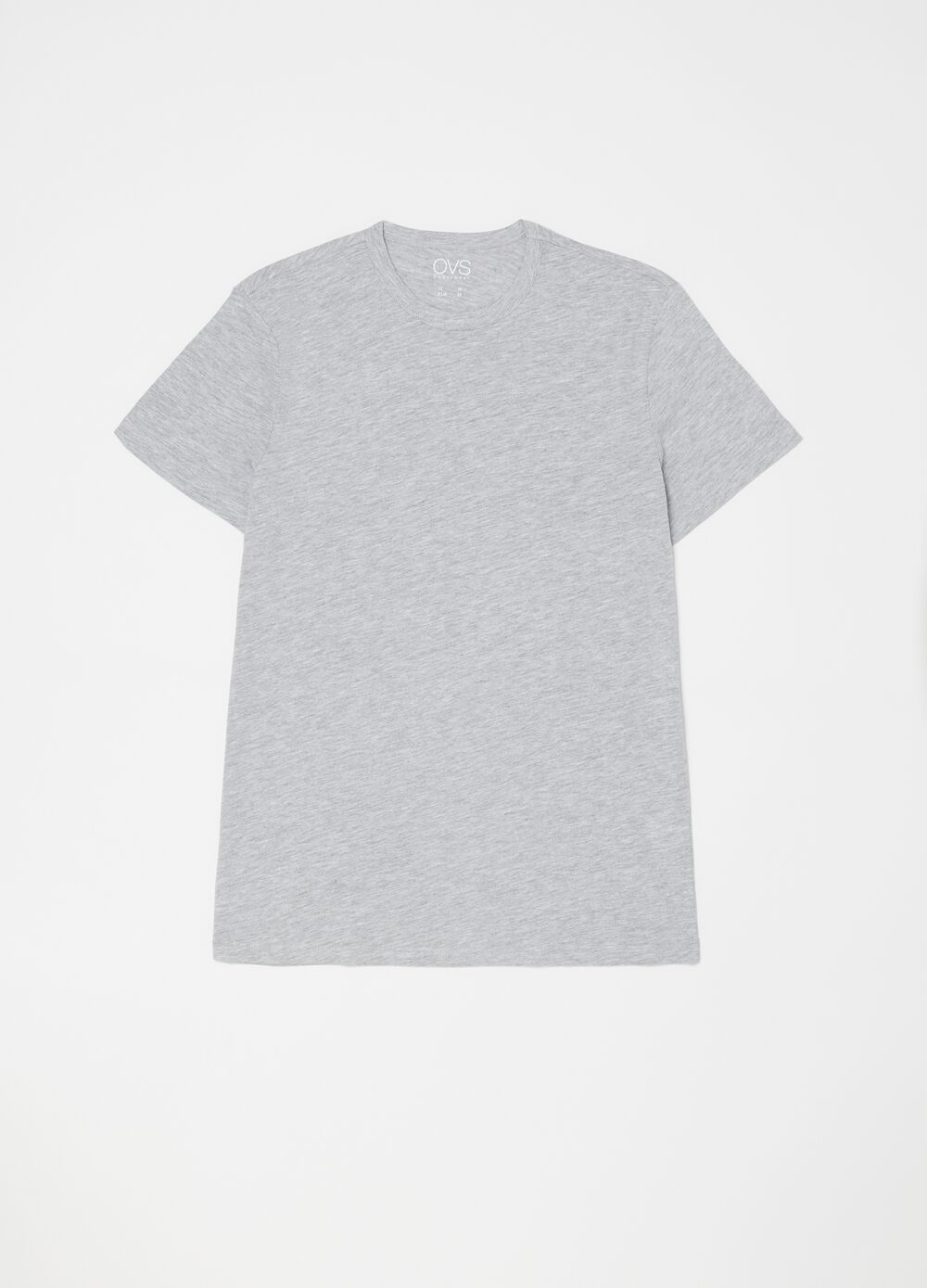 Two-pack mélange undershirts with round neck