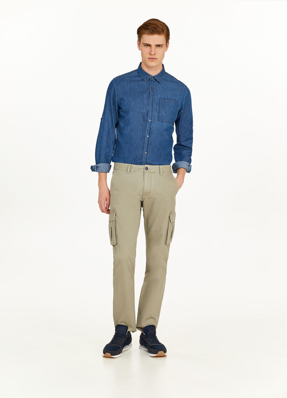 Regular-fit, cargo chino trousers