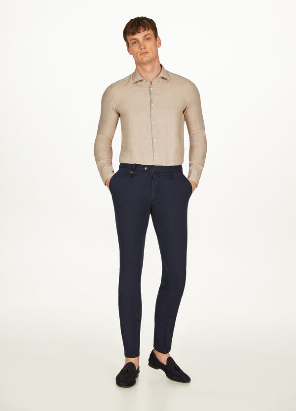 Rumford cotton trousers with crease