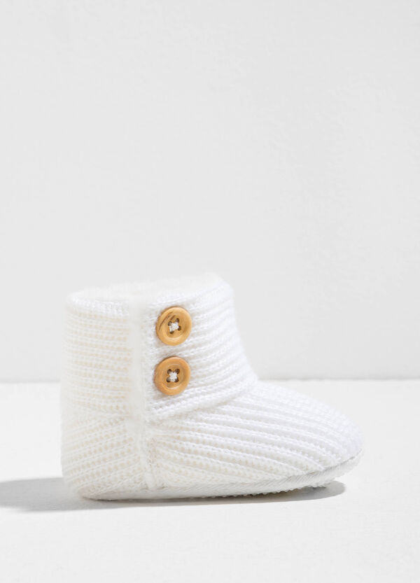 Knitted boots with fur | OVS
