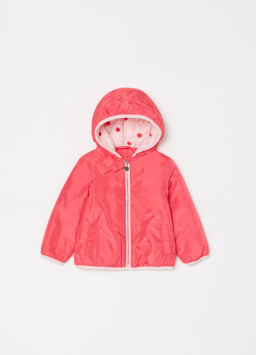 Lightweight jacket with hood and pockets
