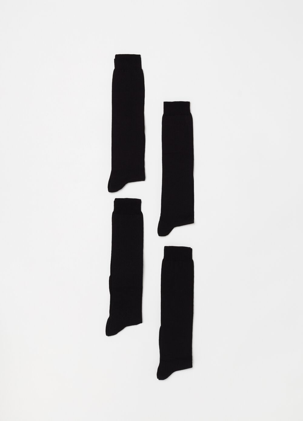 Four-pack long socks, made in Italy