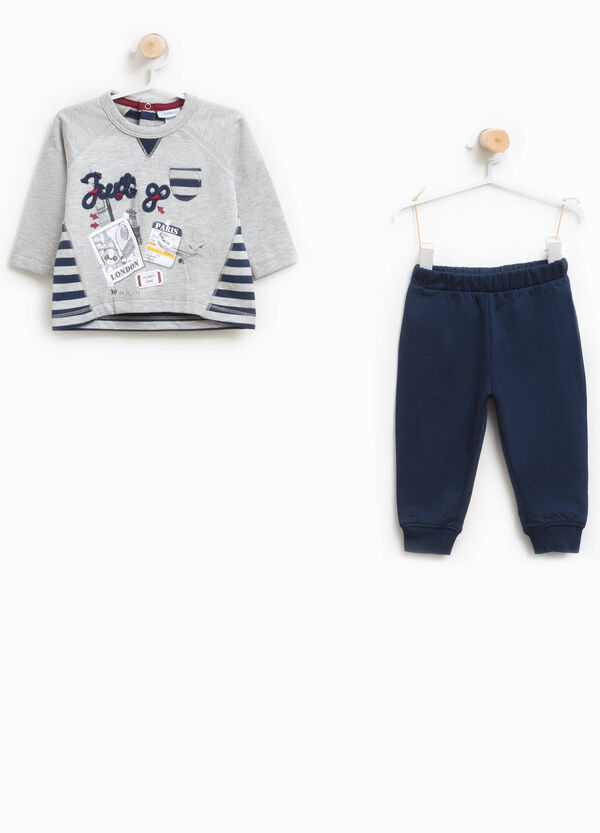 Striped and printed pyjamas in 100% cotton