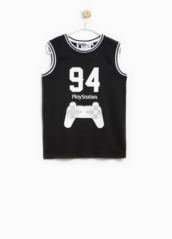 Cotton vest with PlayStation print | OVS