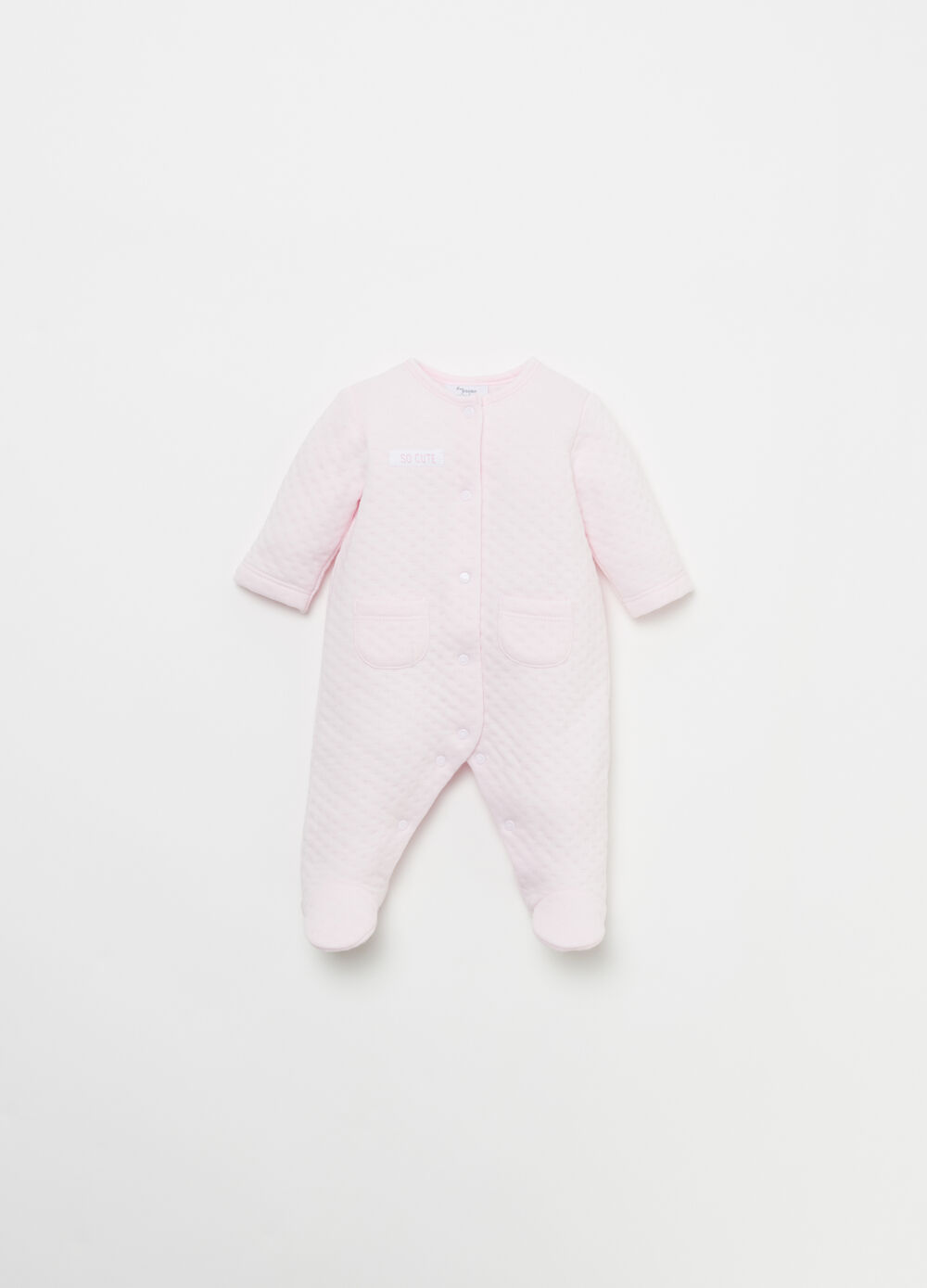 BCI cotton jacquard layered onesie