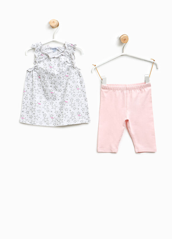Glitter star patterned outfit | OVS