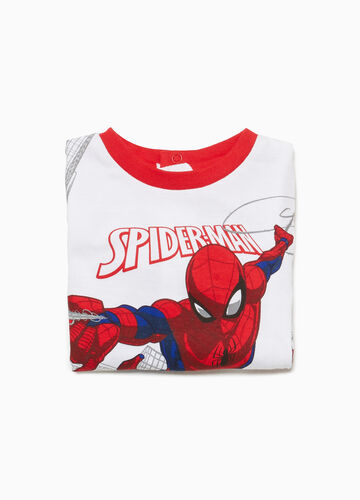 Cotton sleepsuit with Spiderman