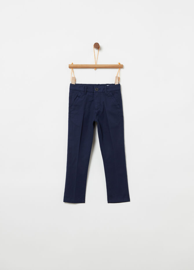 Smart model trousers in stretch cotton