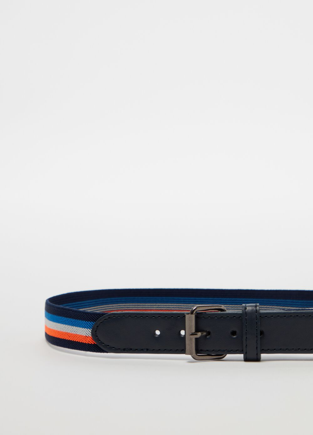 Belt with inserts with striped rubber