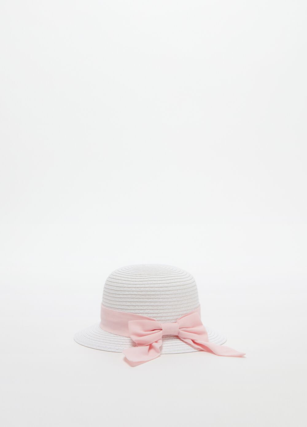 Solid colour hat with ribbon