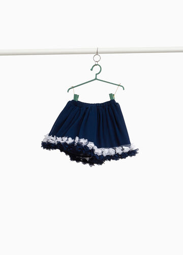 Georgette skirt with tulle and flowers