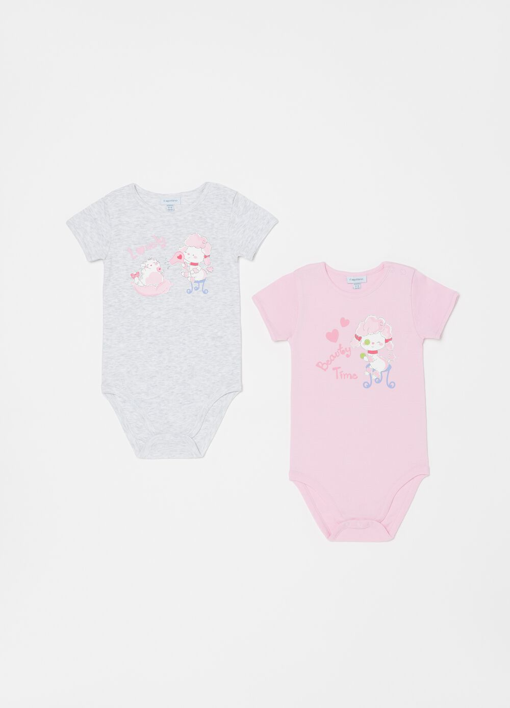 Two-pack printed bodysuits in organic cotton