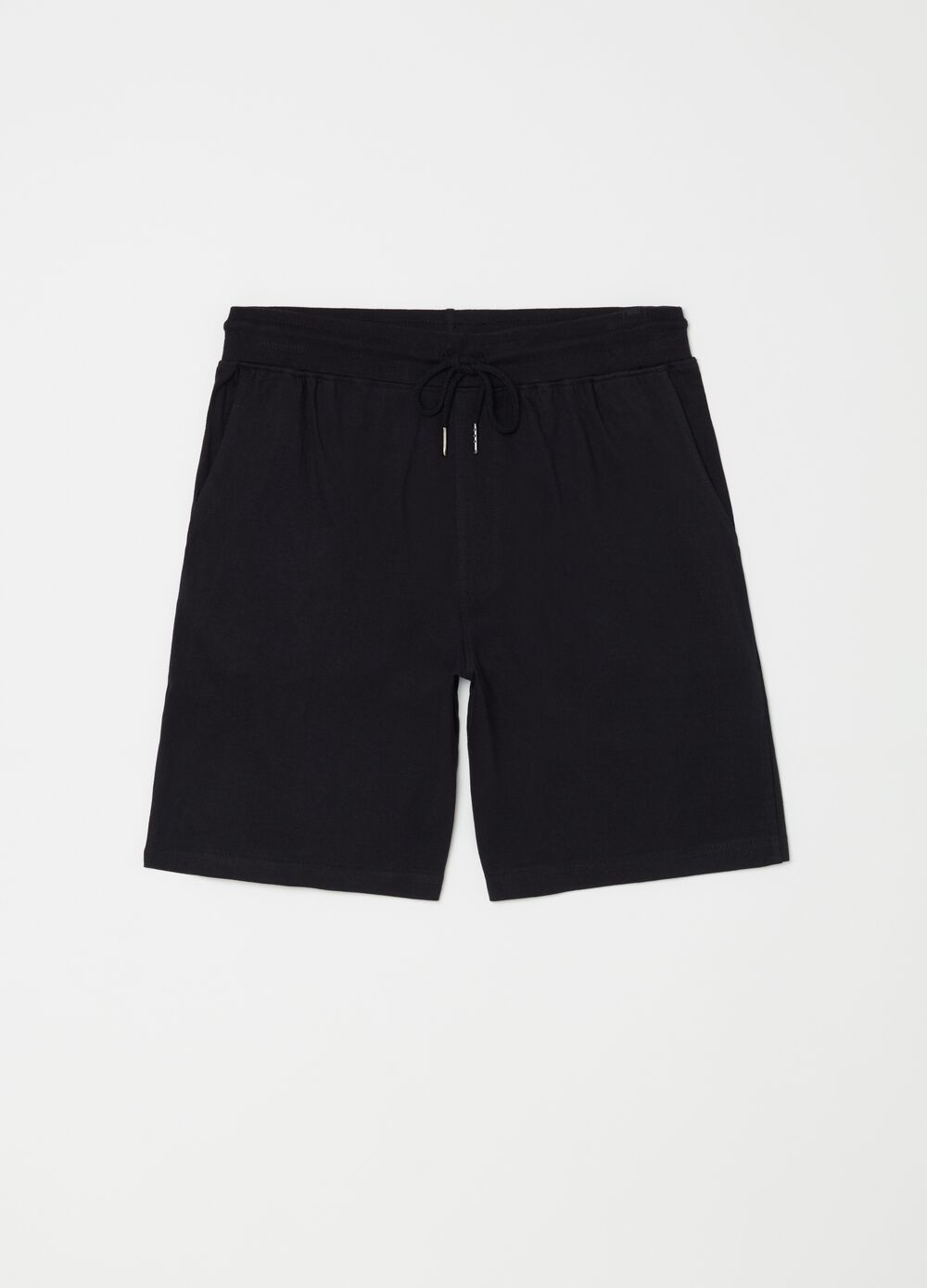 100% cotton pyjama shorts with pockets