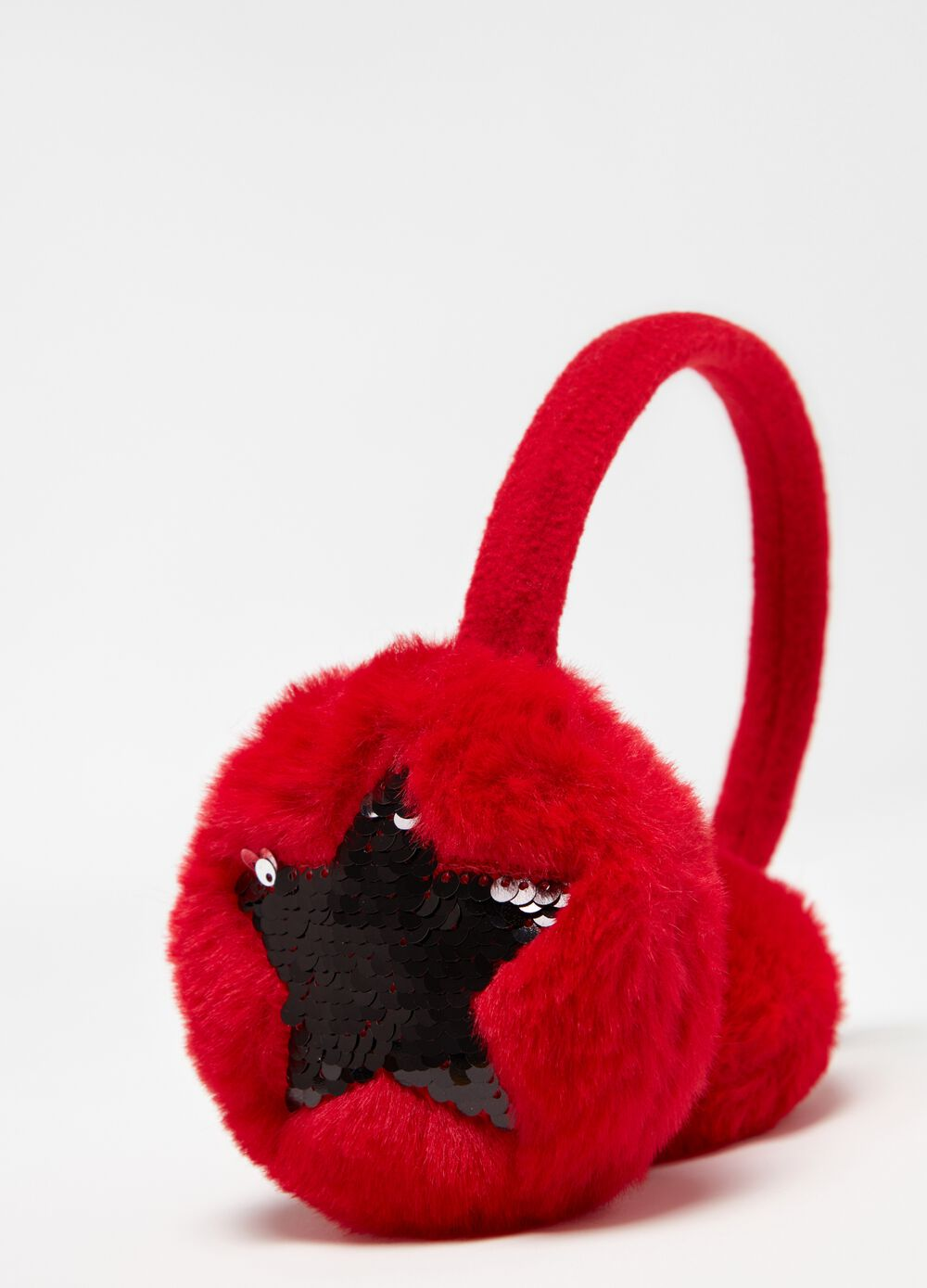 Earmuffs with embroidery and sequins