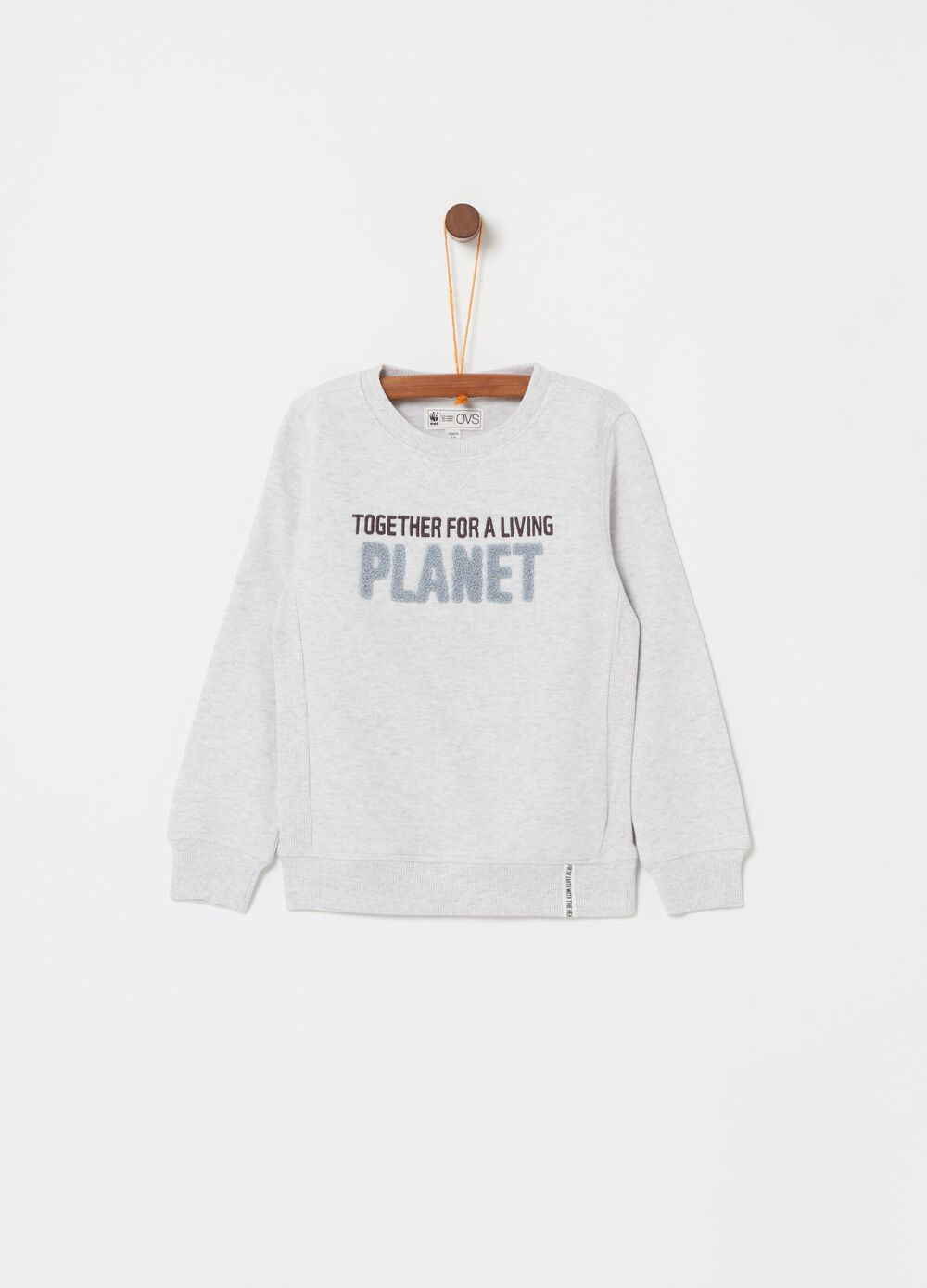Mélange sweatshirt with WWF print