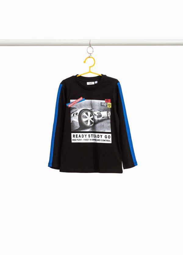 100% cotton T-shirt with car print