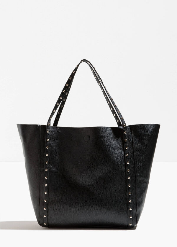 Textured-effect shopping bag with studs | OVS