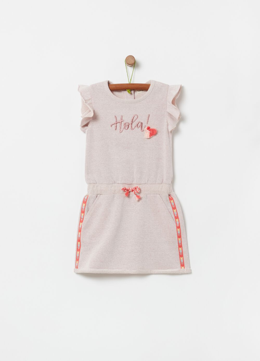 French terry dress with lurex