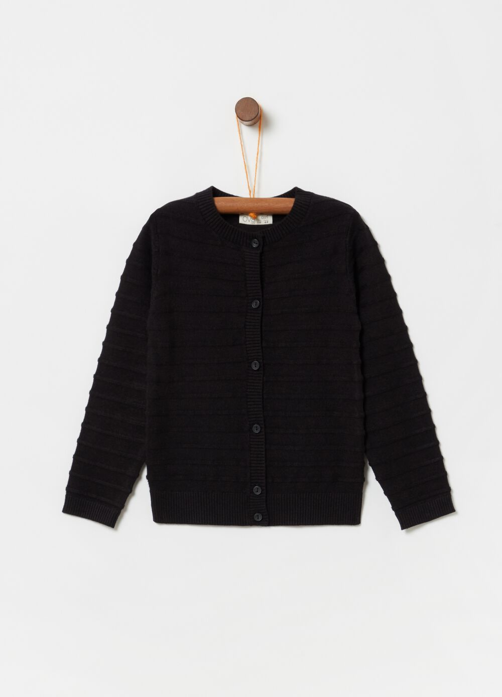 Knitted viscose cardigan