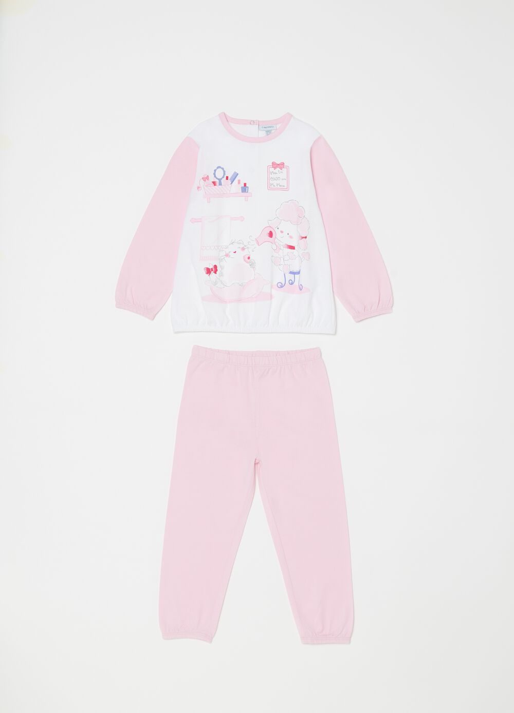 100% biocotton pyjamas with sheep print