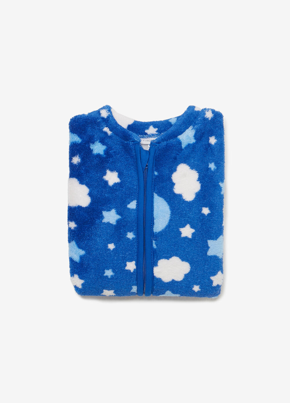 Bodysuit with zip and moon and stars print