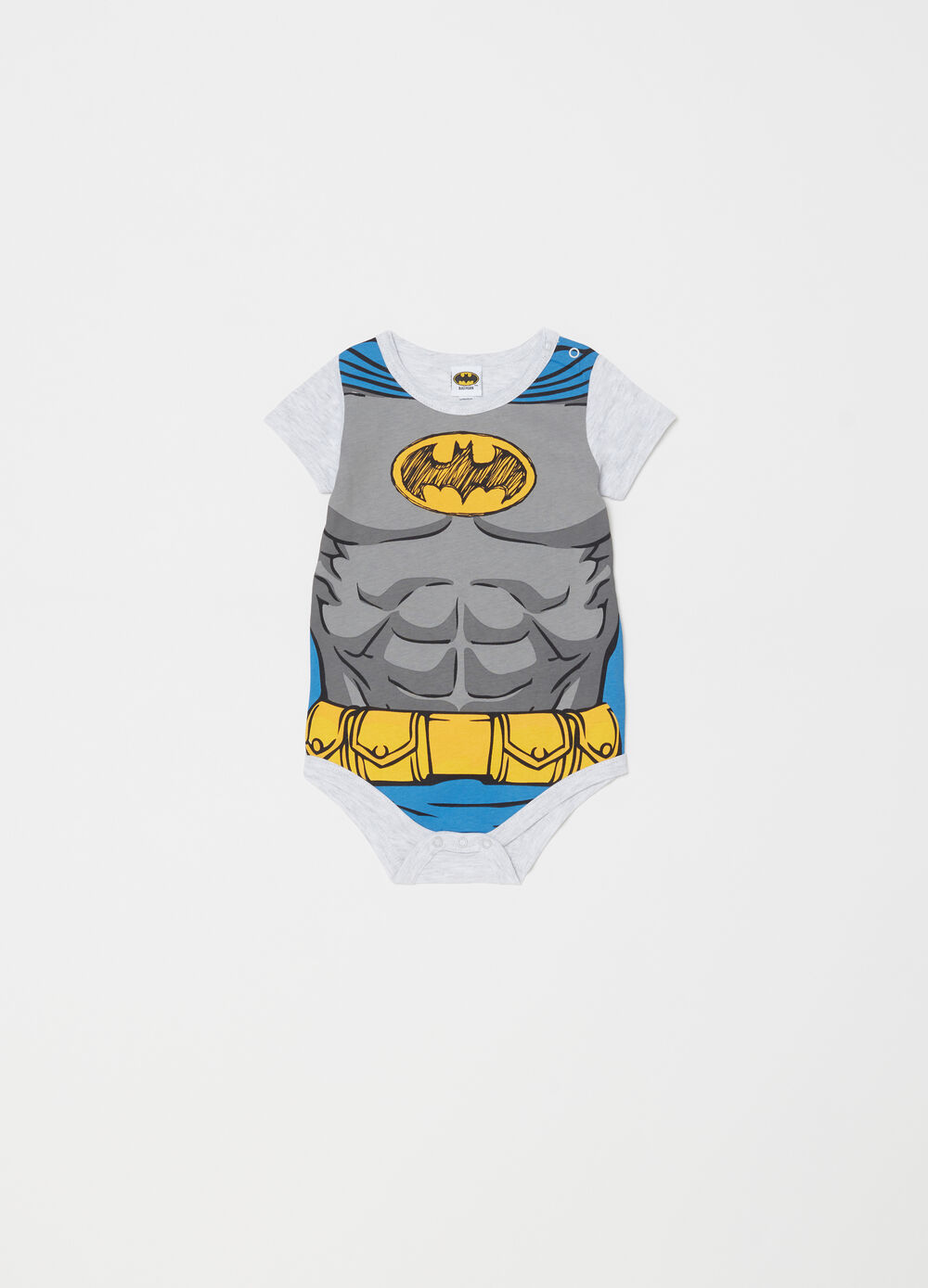 Body jaspeado con estampado Batman
